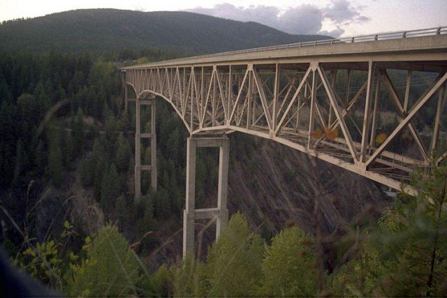 Moyie River Canyon Bridge Tallest in America