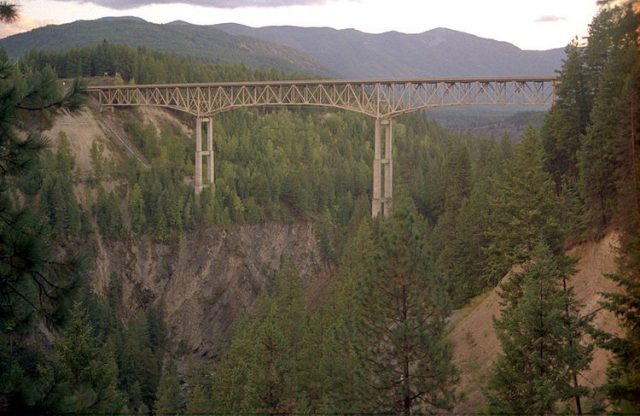 Moyie River Canyon Bridge Tallest in USA