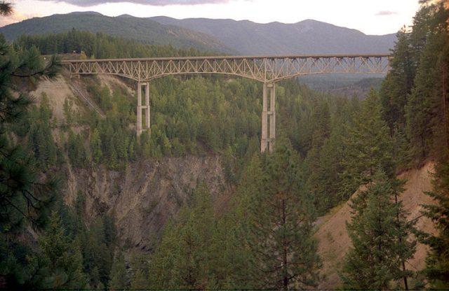 Moyie River Canyon Bridge Tallest in USA