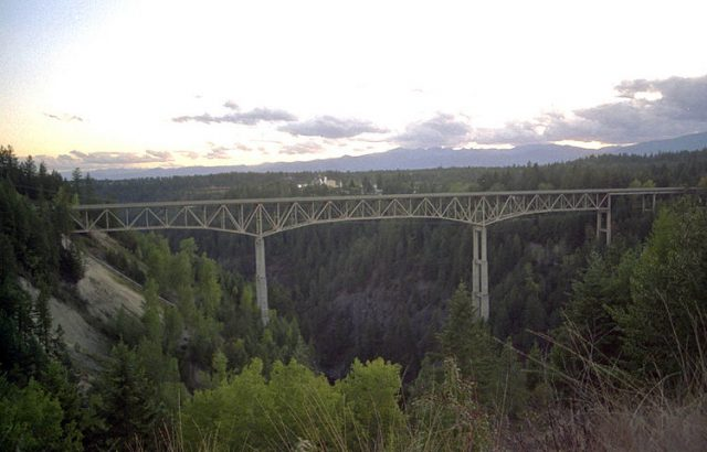 Moyie River Canyon Bridge Tallest in the United States