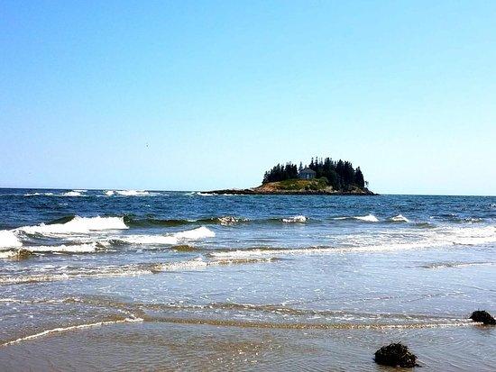 Popham Beach State Park in Maine
