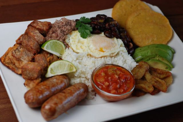 Bandeja Paisa Traditional Colombian Food