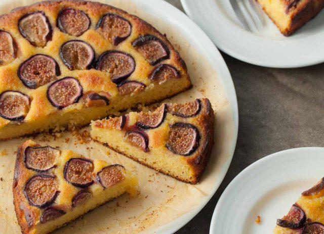 Fig Almond Olive Oil Cake Mediterranean Dessert