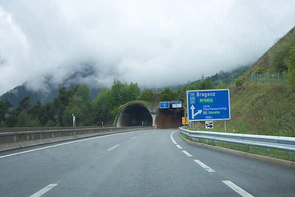 Arlberg Road Tunnel Longest Drivable in the World