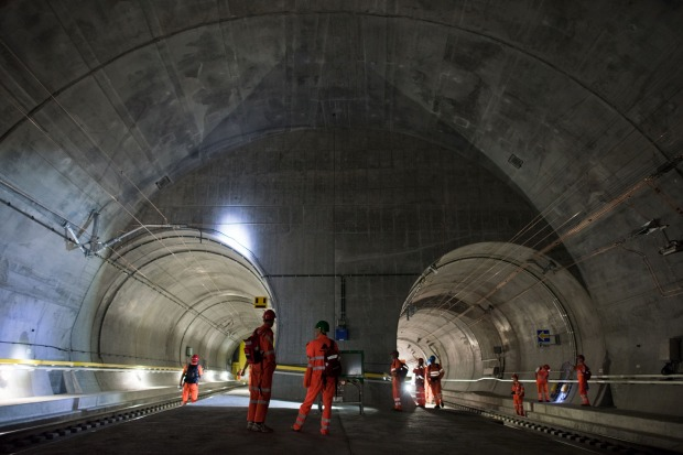 Gotthard Tunnel Longest and Deepest in the World