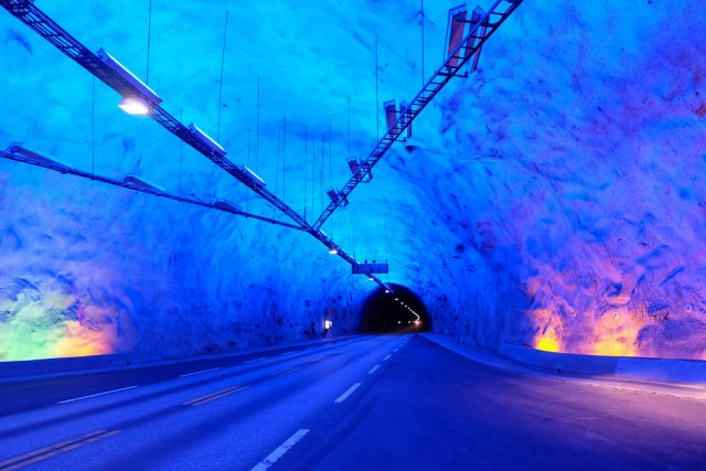 Lærdal Tunnel Longest Car in the World