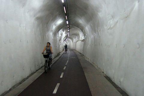 San Sebastian Biking Tunnel Longest in the World