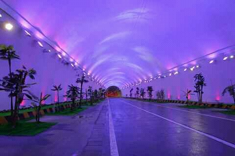 Zhongnanshan Tunnel Drivable Longest in the World