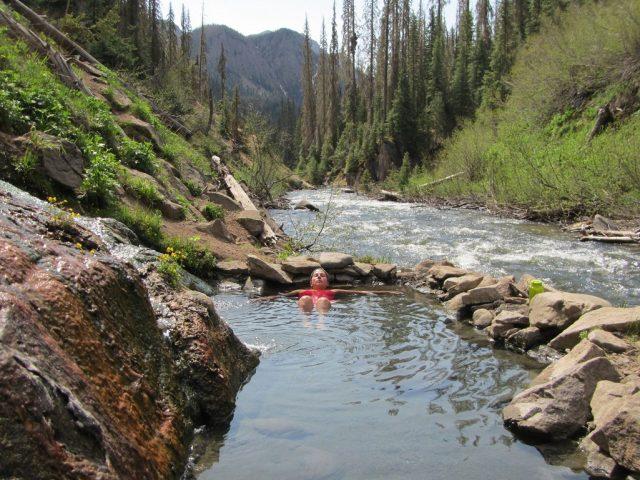 Free Natural Rainbow Hot Springs near Denver