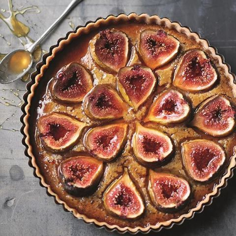 Fresh Fig and Honey Tart Middle Eastern Dessert