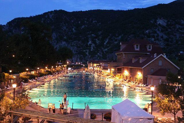 Glenwood Hot Springs Pool near Denver
