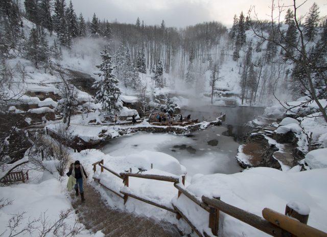 Strawberry Park Natural Hot Springs near Denver