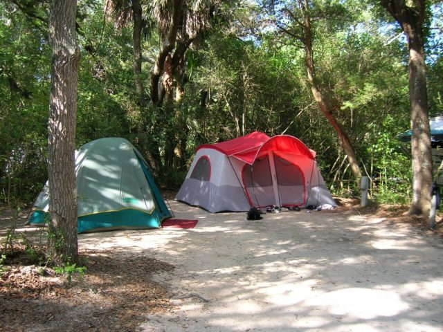 Anastasia State Park Camping Place in Florida