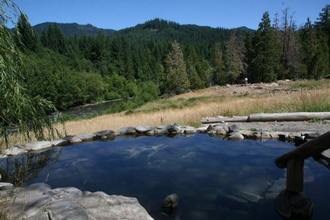 Breitenbush Natural Hot Springs in Oregon