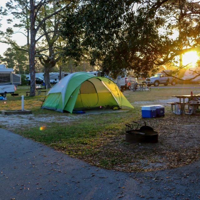 Fort Pickens Campground in Pensacola Beach Florida