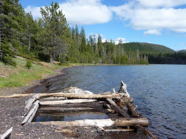 Paulina Lakes in Western Oregon
