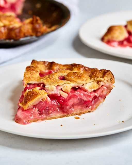 Rhubarb Pie Typical Christmas Dessert