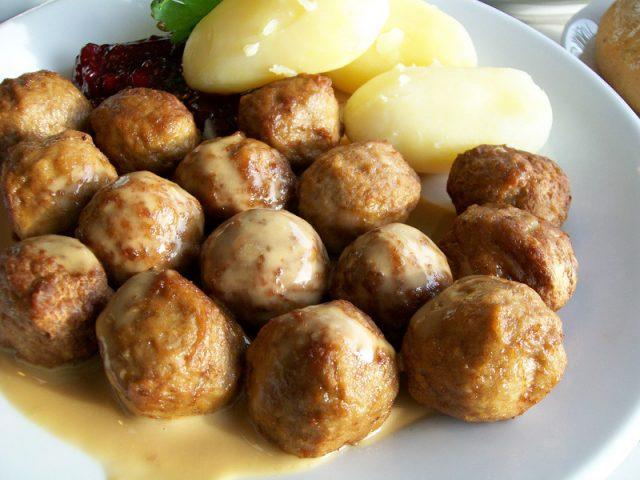 Kottbullar Typical Swedish Food