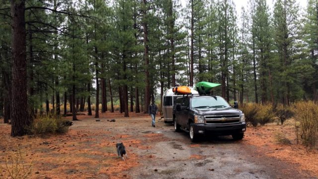 Lava Beds National Park Camping site in Northern California