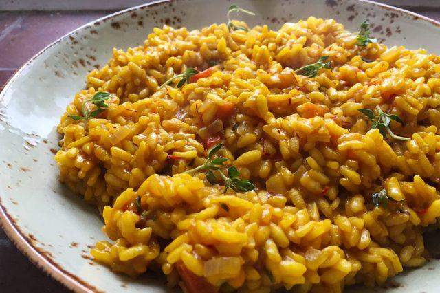 Saffron Rissoto Swiss Cuisine