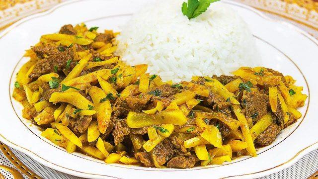 Olluquito con charqui Traditional Peruvian Food