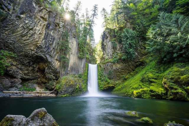 Toketee Falls in Southern Oregon