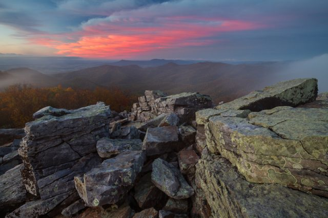 Blackrock Summit Hiking Trail in Virginia