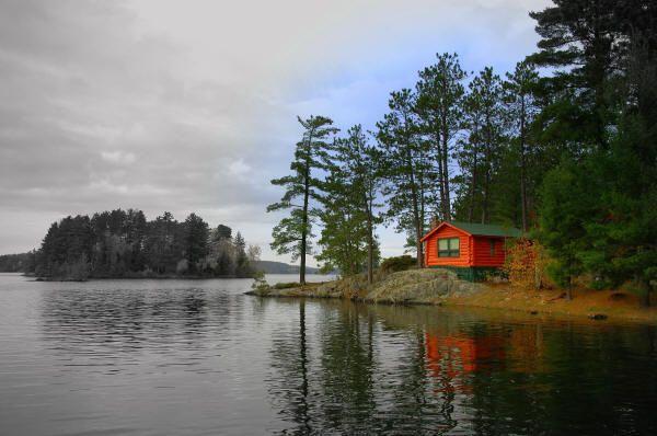 Burntside Lake in Northern Minnesota