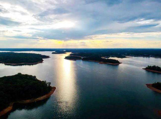 Hartwell Lake in South Carolina