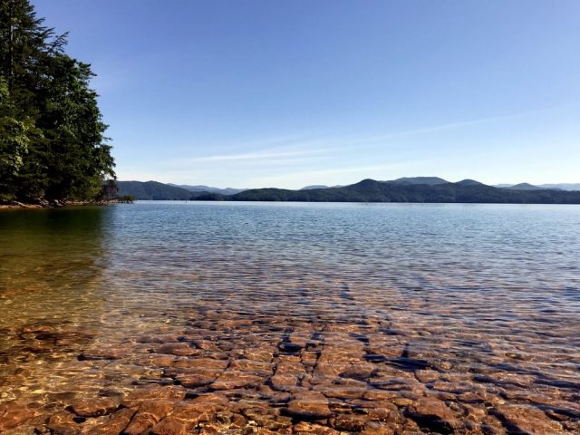 Jocassee Lake in South Carolina