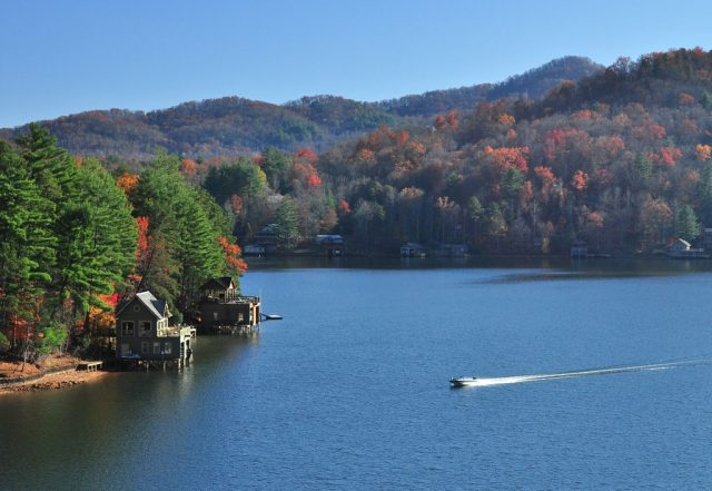 Lake Burton in North Georgia