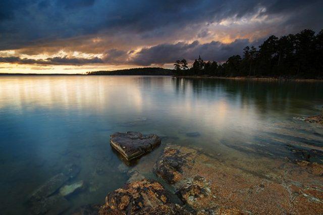 Russell Lake in South Carolina