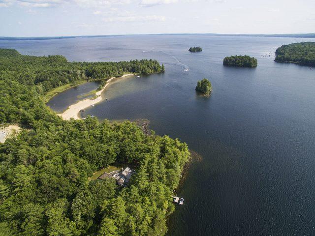 Sebago Lake in Southern Maine