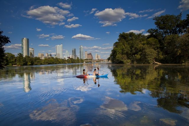 Lady Bird Lake in Central Texas