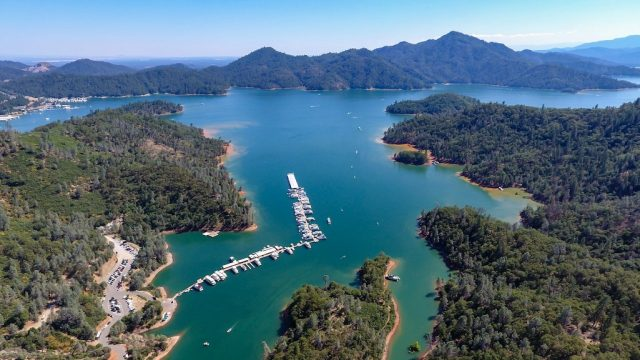 Shasta Lake in Northern California