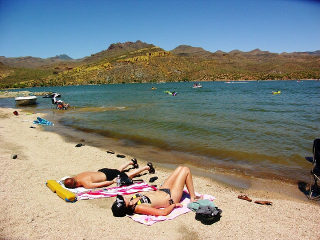 Bartlett Lake in Southern Arizona