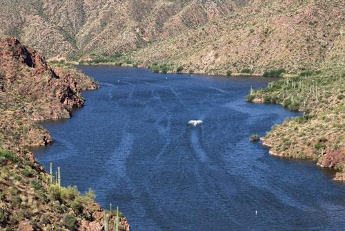 Lake Apache in Central Arizona