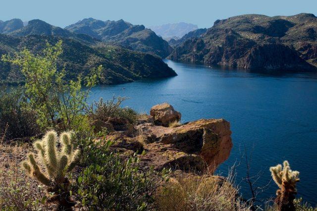 Saguaro Lake in Southern Arizona
