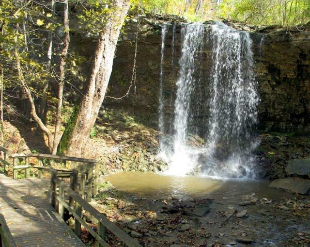 Charleston Falls in Ohio