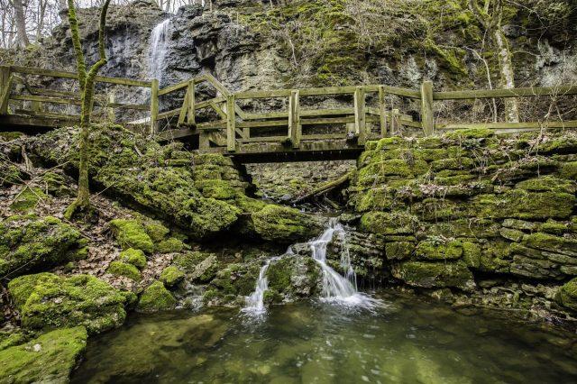 Clifton Gorge Falls in Ohio