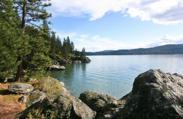 Couer d'alene Lake in Northern Idaho