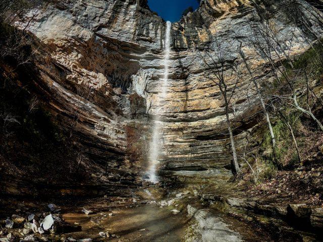 Hemmed-in-Hollow Falls in Northern Arkansas