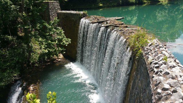 Mirror Lake Falls in Northern Arkansas