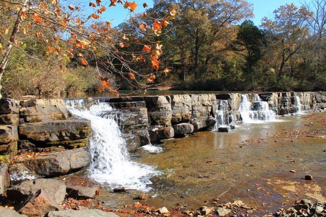 Natural Dam Falls in Northern Arkansas