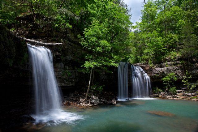 Twin Falls of Richland Creek in Northern Arkansas