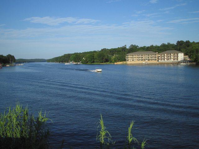 Lake Hamilton in Central Arkansas