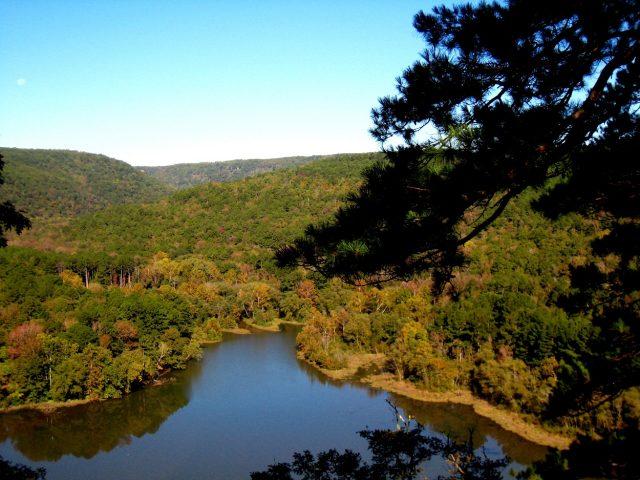 Shores Lake in Western Arkansas