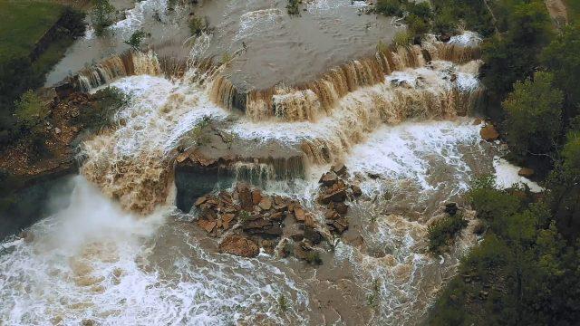Bachelor Creek Falls in Kansas