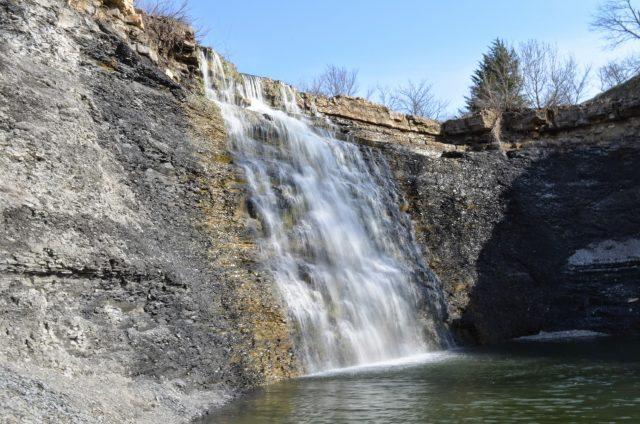 Bourbon Waterfalls in kansas