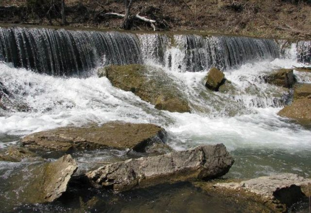 Deep Creek Waterfall in Kansas